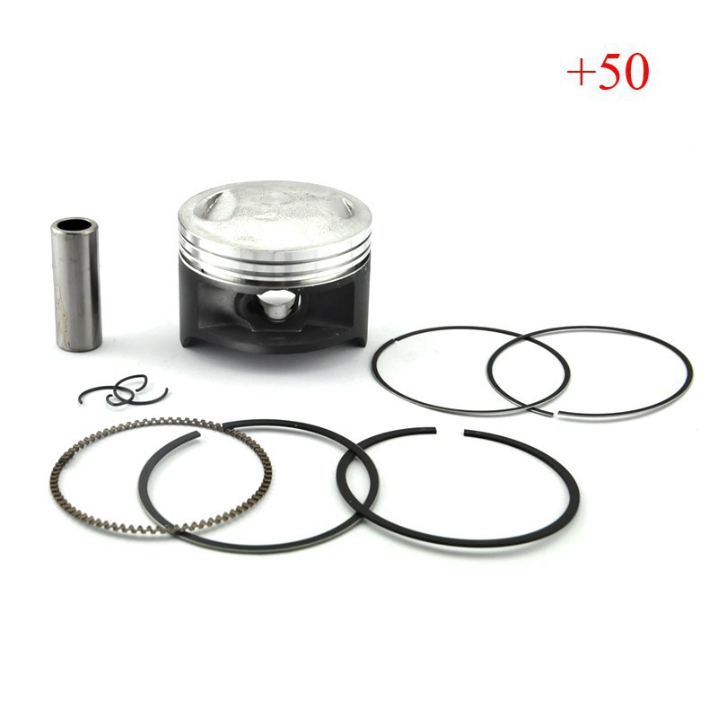 DR200 Piston & Piston Rings Kit Motorcycle Engine Parts Piston Set For Suzuki DR 200 +50 Cylinder Oversize Bore Size 66.5mm New  piston piston pin piston rings circlip suit for hisun 700cc hs700 atv engine parts