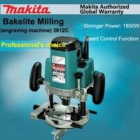 Япония Makita 3612C станок деревообрабатывающий бакелитовый фрезерный станок долбежный деревянных обрезки 1850 Вт 160 мм 9000 23000 об./мин.