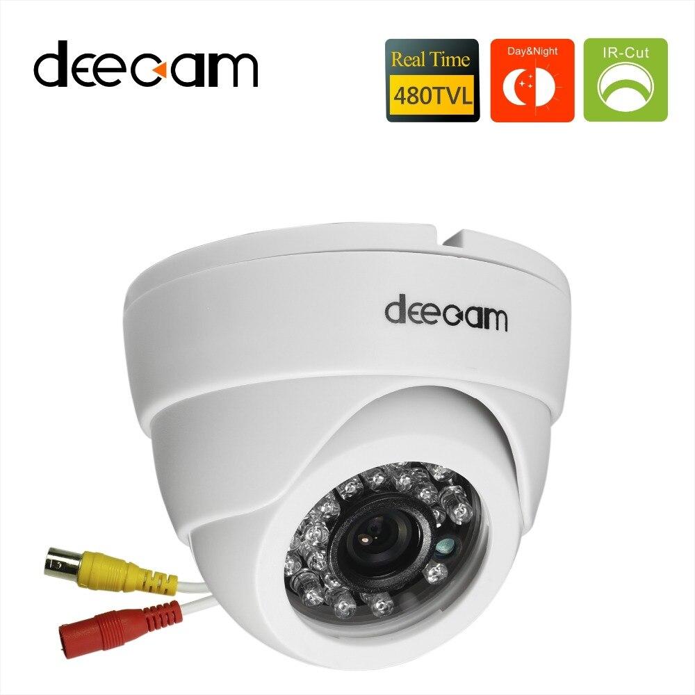 """imágenes para Deecam 1/3 """"de alta calidad de color de la cámara sony ccd 480tvl 20 ir led de visión nocturna cámara domo para interiores cámara de vigilancia de seguridad"""