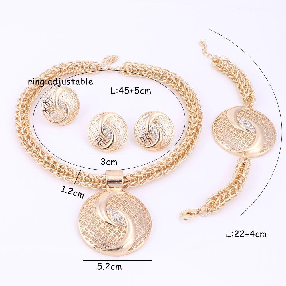 Handgemachte Dubai Gold Farbe Schmuck Sets über Gild Fashion Big - Modeschmuck - Foto 3