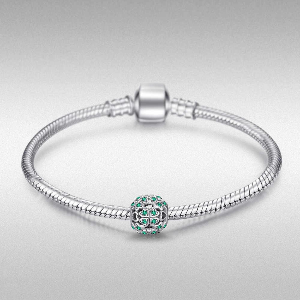 JewelryPalace, четыре листа, серебряные бусины 925 пробы, подвески, серебро, 925 оригинал, для браслета, серебро, 925 оригинал для изготовления ювелирных изделий
