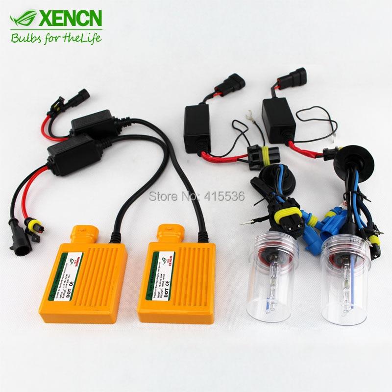 XENCN 9005 HB3 Ballast kit Xenon Hid Kit SET Car light source Headlight bulbs lamp 12V 35W 5500K can bus car ac hid xenon light kit 9005 6000k decorde slim ballast 12v 35w [ ac124]
