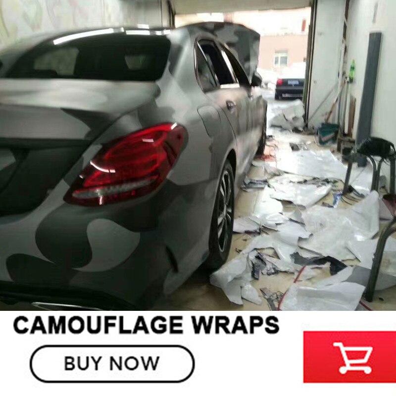 Noir Gris Camouflage Vinyle De Voiture wrap film Camo Autocollant De Voiture Moto Vélo Enveloppe Bulle Livraison 1.52x30 m/rouleau - 4