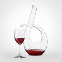 1200 ml Szybka Karafka Wina Kryształ Ręcznie Dmuchanego Szkła Czerwonego Wina Karafki Zestaw Kryształu bezołowiowego Bar Zestaw