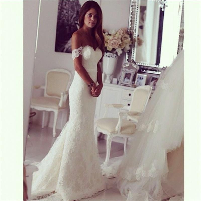 Spanish Off the Shoulder Wedding Dress