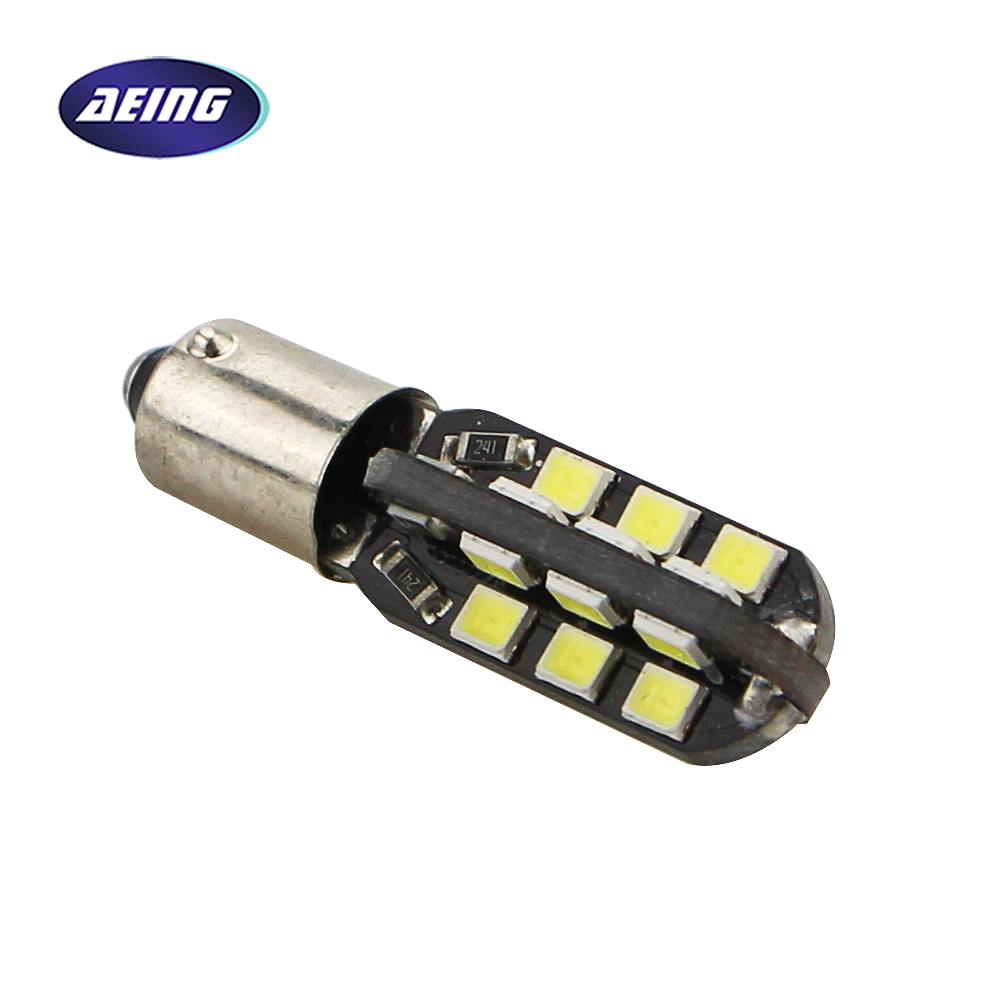 цена на AEING 1 Piece T11 T4W W6W H6W BA9S Car LED Dome Map/Door/Side Marker/License Lamp Light bulbs 24SMD No Error Warm White or White