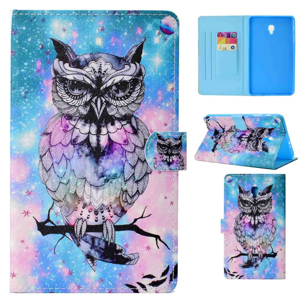 For Funda Galaxy Tab A 8.0 2017 T385 Case Owl Folio PU Leather Soft TPU Magnetic Stand Shell Cover for Samsung Tab A 8.0 SM-T380