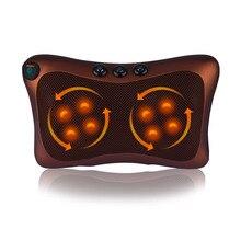 массажная подушка электрический массажер для тела массажер для шеи массажер для спины Здравоохранения автомобиля дома электрический разминающий массаж подушку шейки плеча сзади шейки поясничного шеи массажер