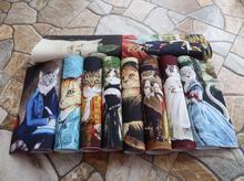 Cavalheiro Gato tecido tingido Mão 10 PCS X 20 CM Assorted Cotton Linen Impresso Quilt Tecido Para DIY Costura Patchwork Home Textile Decor