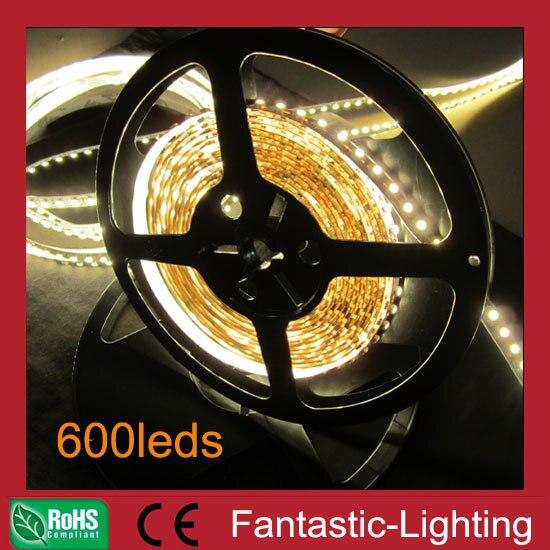 Enery-saving Christmas LED light LED ribbon tape light 600LED 7-8LM Super bright led strip light 120 pcs non waterproof