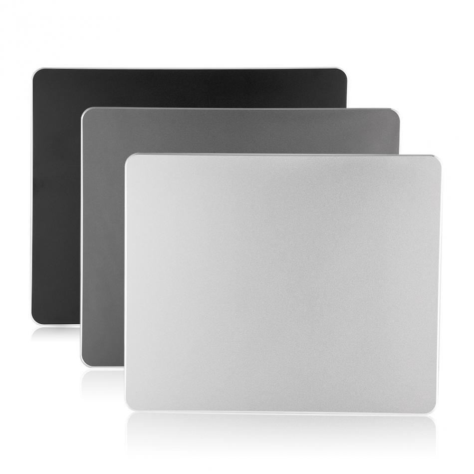 22*18 CM En Alliage D'aluminium Non-slip Gaming Mouse Pad Mat Double Face Tapis De Souris pour Bureau PC Portable ordinateur