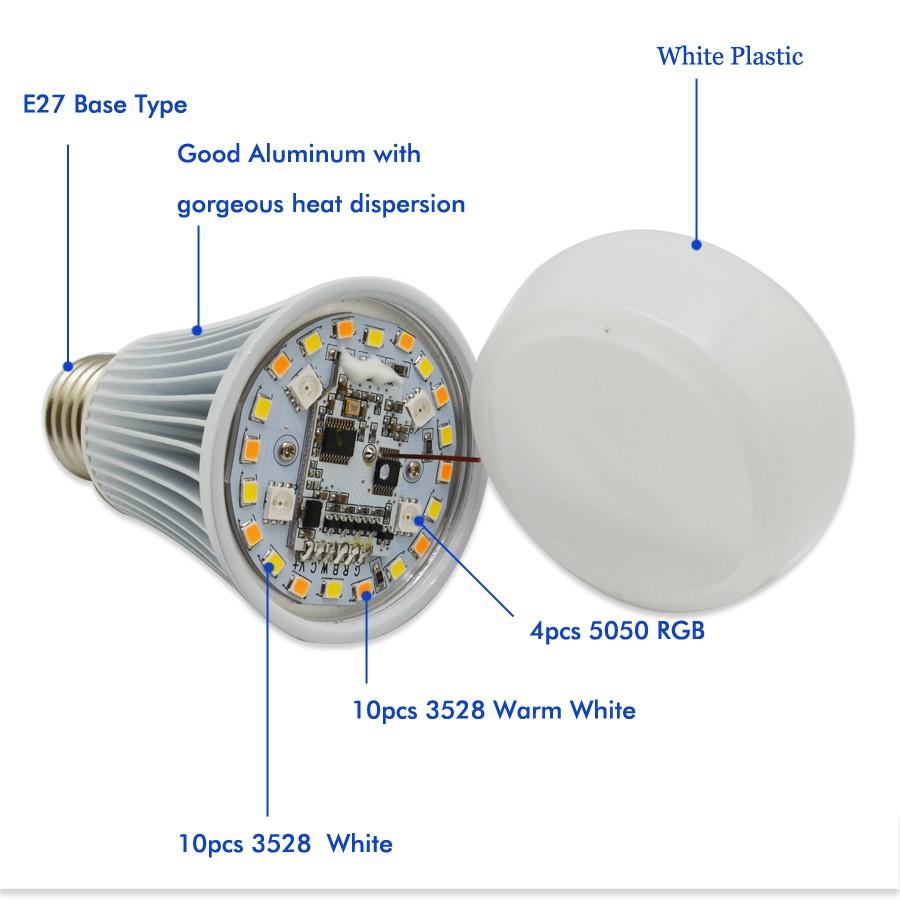 RGBWW 8W LED BULB16