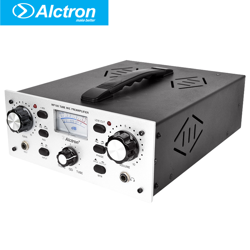 Alctron MP100 Pro Tube Microphone/Instrument Preamplifier, Pro Mic/Line Preamplifier, Mic Preamp with 48V phantom power  цены