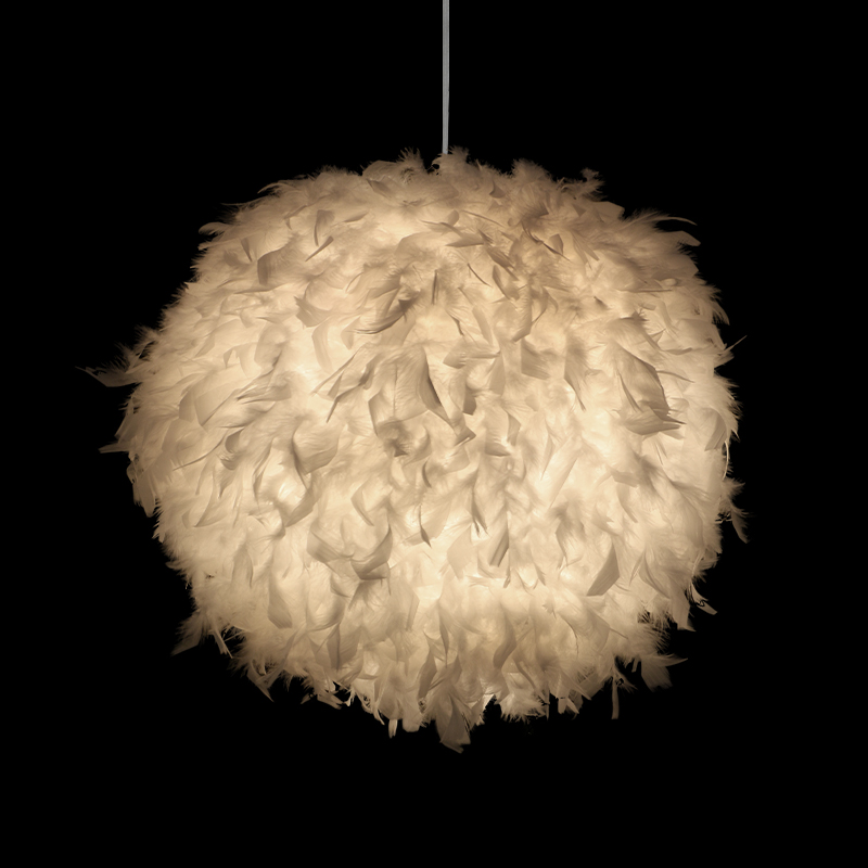 Modern Simple Feather Ball Droplight Children Bedroom Adornment Pendant Lamp Dining Room Store ShopModern Simple Feather Ball Droplight Children Bedroom Adornment Pendant Lamp Dining Room Store Shop