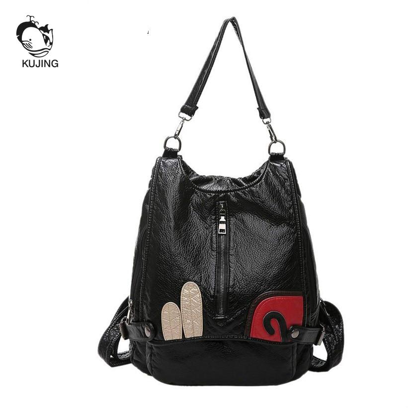 Donne Borsa A Studente Femminile Alta Mercato Black2 Buon Delle black1 Multi Bag Di Tracolla Qualità Messenger funzionale Kujing Lusso Borse q8fzY