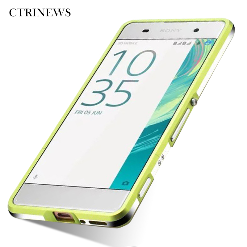Galleria fotografica Mobile Phone Case For <font><b>Sony</b></font> Xperia XA Aluminum Bumper Luxury Metal Frame Phone Case For <font><b>Sony</b></font> Xperia XA Protective Cover Coque
