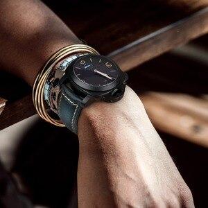 Image 5 - MAIKES Uhr Zubehör Armband Retro Öl Wachs leder Uhr band 20mm 22mm 24mm 26mm Uhr Strap armband Für Panerai MIDO