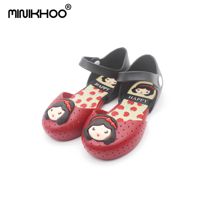 Mini Melissa 2018 Girls Princess Sandals Summer Shoes For Girls Princess Shoes Cartoon Girls Sandals Children Breathable