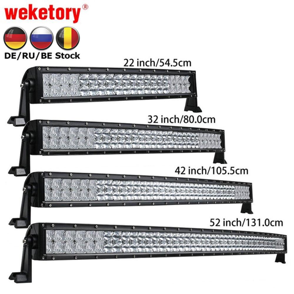 Weketory 5D 22 32 42 52 zoll 200 watt 300 watt 400 watt 500 watt Gebogene Led-arbeitslicht Bar für Traktor Boot OffRoad 4WD 4x4 Auto Lkw SUV ATV