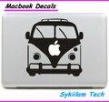 Super ônibus escolar para a apple logo criativo etiqueta para macbook pele ar 11 12 13 13 15 Pro 17 Retina Laptop Parede Vinil Carro decalque