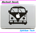 Super School Bus for apple Logo Creative Sticker for Macbook Skin Air 11 12 13 Pro 13 15 17 Retina Laptop Wall Car Vinyl Decal