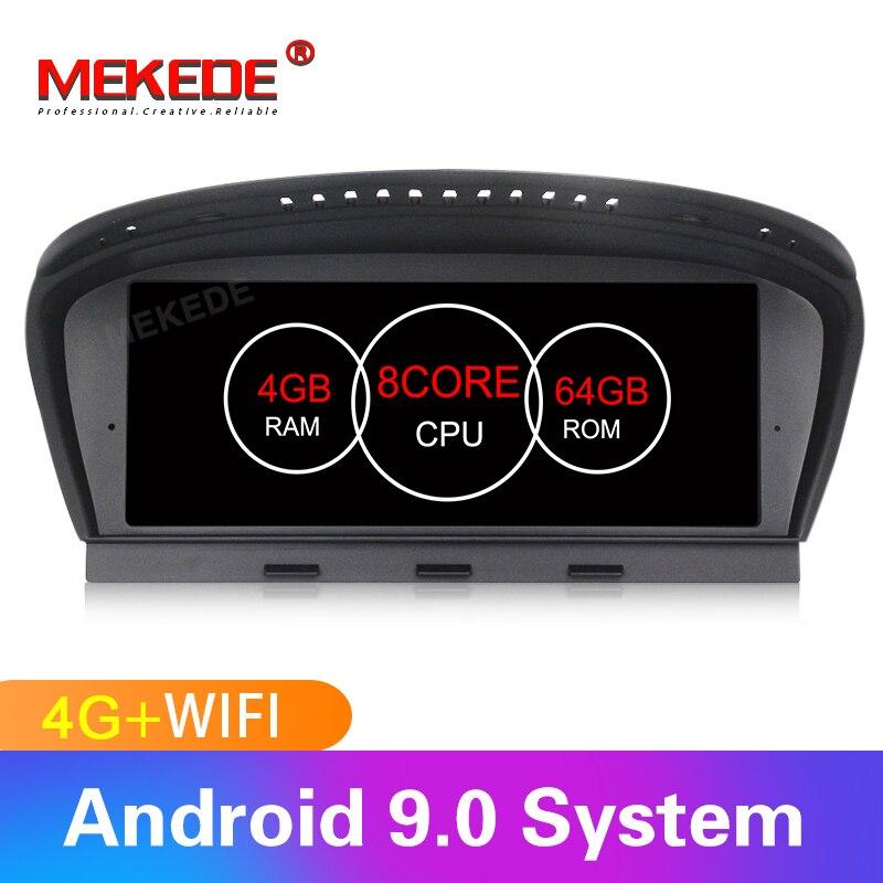 Android9.0 8 núcleos 4GB + 64GB unidade de cabeça de navegação GPS player de rádio estéreo Do Carro para BMW Série 5 e60 E61 E63 E64 E90 E91 E92 CCC CIC