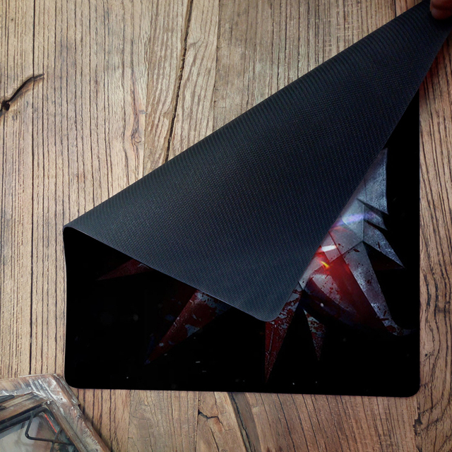 Bloody The Witcher Anime Gaming Mouse Pad Speed Control Notebook mouse pads Computer Mouse Pad keyboard large gaming mouse pads