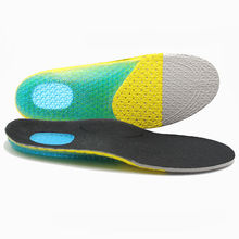New Unisex Sports Insole Gel Orthotic Soft Running Insoles Insert Shoe Pad Arch Support Cushion Heel Pain Insole High Quality