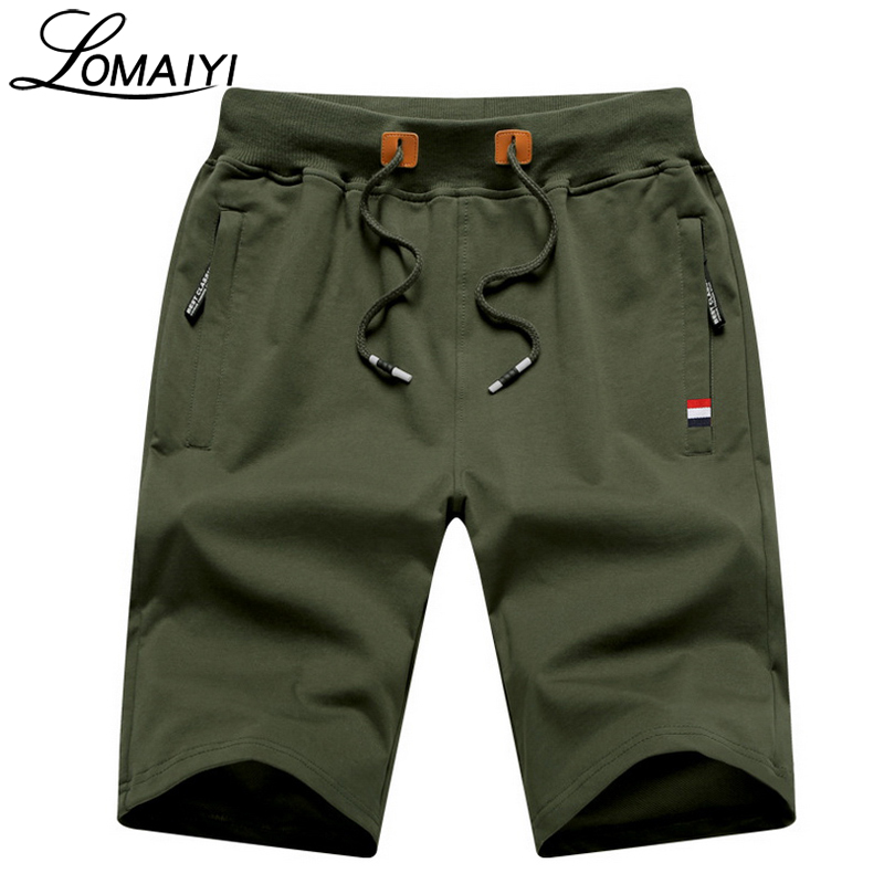 LOMAIYI Stretch Mens Shorts Sportswear With Pockets Summer Slim Casual Male Short Boardshorts Beach Shorts Men Cotton,BM063
