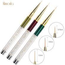 1pcs Nail Brush Drawing Pen 3D Acrylic Nail Carving Pen Gel Polish Nail Art Design Decoration Manicure Painting Tools