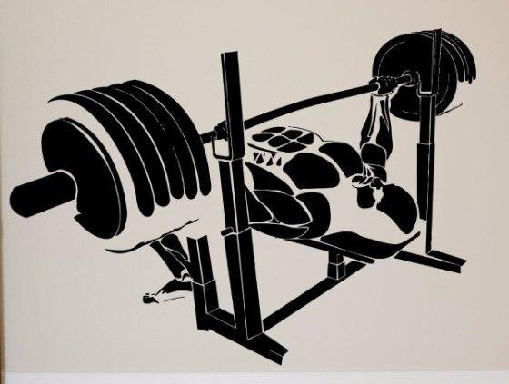 Nouvelle Arrivée Muscle Man Vinyle Sticker Sport Corps Constructeur ...