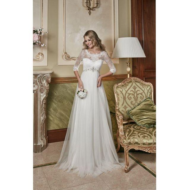 Vestido de casamento 2017 Dreses de Noiva Império Cintura Maternidade para As Mulheres Grávidas Frisado Apliques de Vestidos de Noiva Vestido De Noiva