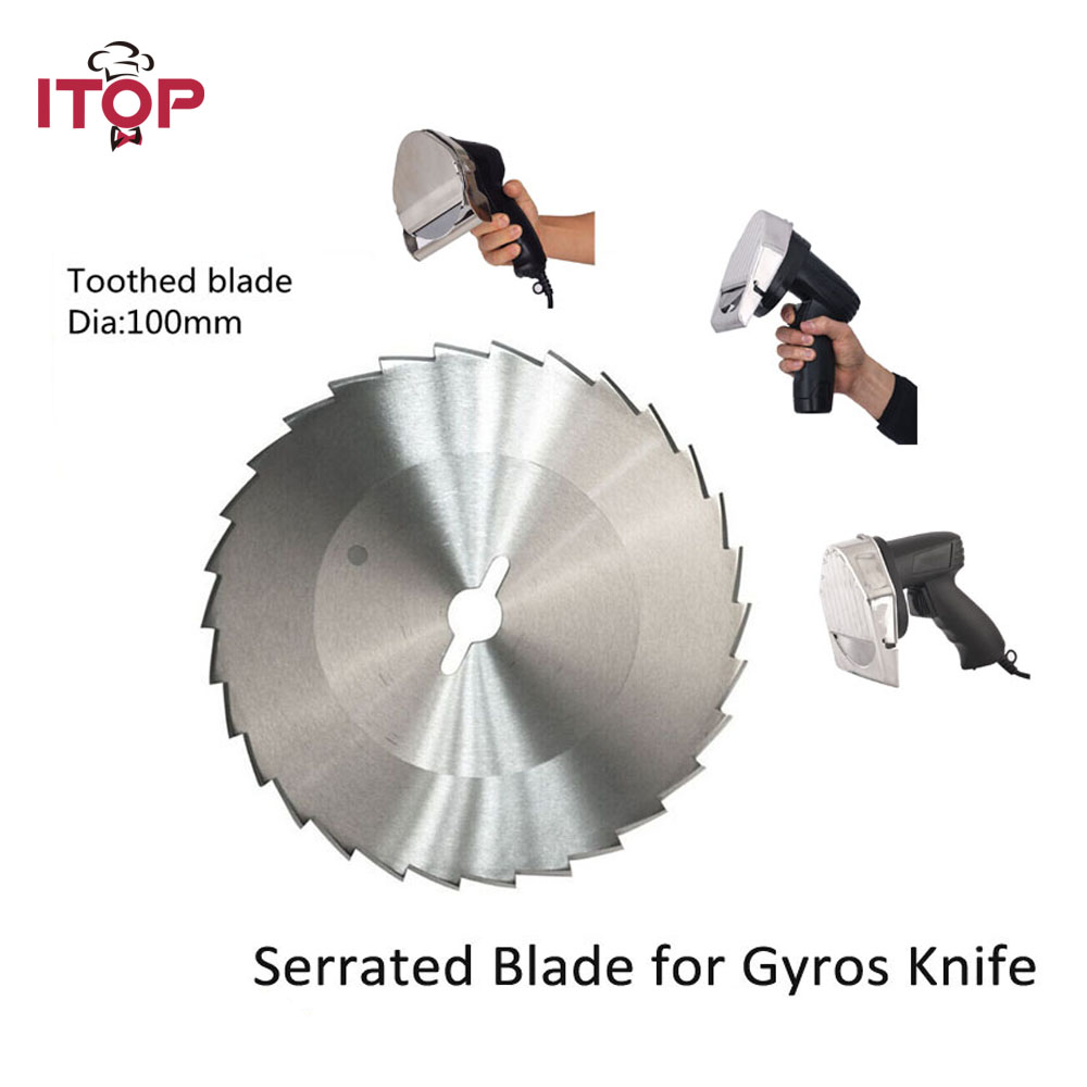 ITOP Stainless Steel Blade for Kebab Slicer Doner Shawarma Knife Round Blade & Tooth Blade Kitchen Food Processors blade for meat cutting machine food processors with blade knife for commercial or home use qw