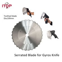 Stainless Steel Blade for Kebab Slicer Doner Shawarma Knife Round & Tooth