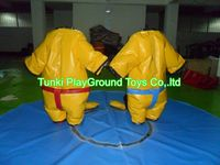 Custom fighting inflatable sports games / kids and adult sumo wrestling suits for sale