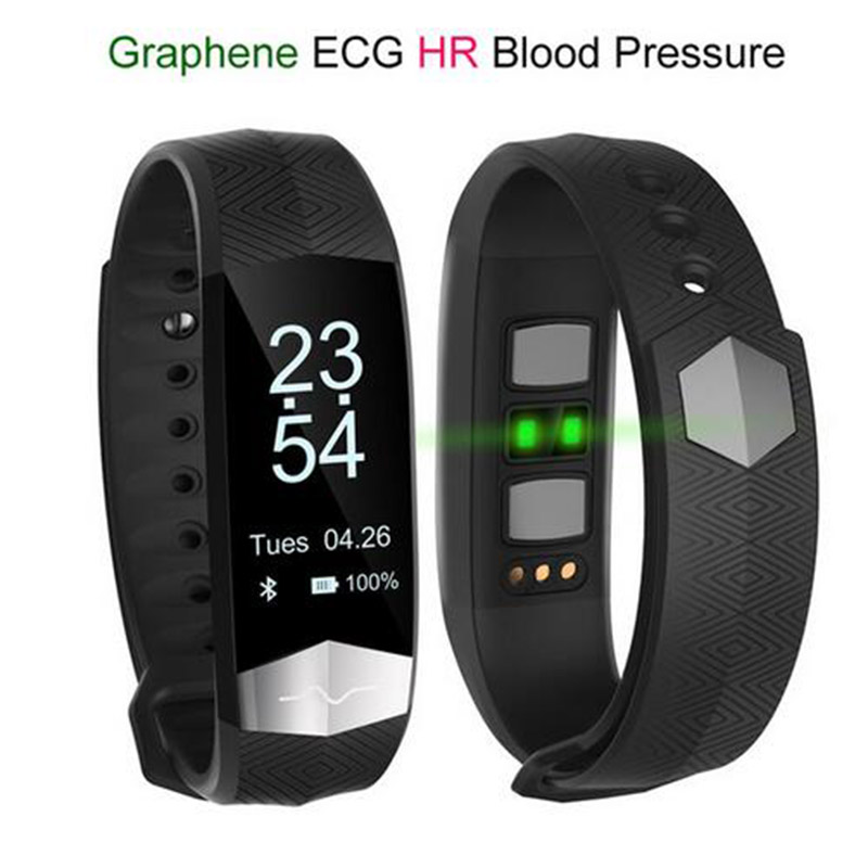 Ecg Blood Pressure Monitor Bluetooth Smart Wristband Sport Fitness Band Bracelet For Samsung Galaxy S6 Edge Plus S5 S4 S3 In Wristbands From
