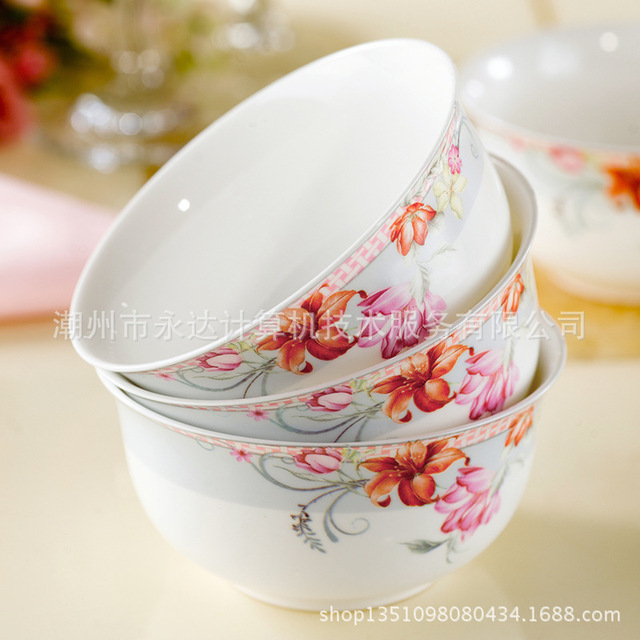 Wholesale upscale Royal Ceramic 10 New Bone China tableware suit microwave rice bowl personalized Gift sets & Wholesale upscale Royal Ceramic 10 New Bone China tableware suit ...