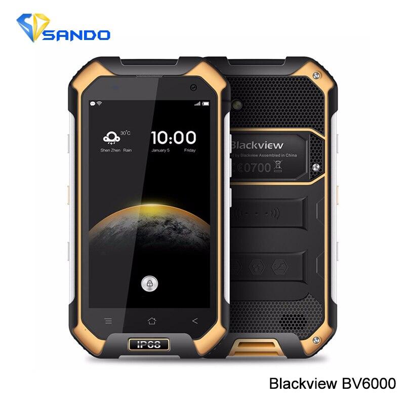 Original Blackview BV6000 MTK6755 4.7&#8243;HD Octa Core 4G LTE Waterproof Android 6.0 <font><b>SmartPhone</b></font> <font><b>3GB</b></font> <font><b>RAM</b></font> 32GB ROM 13.0MP GPS