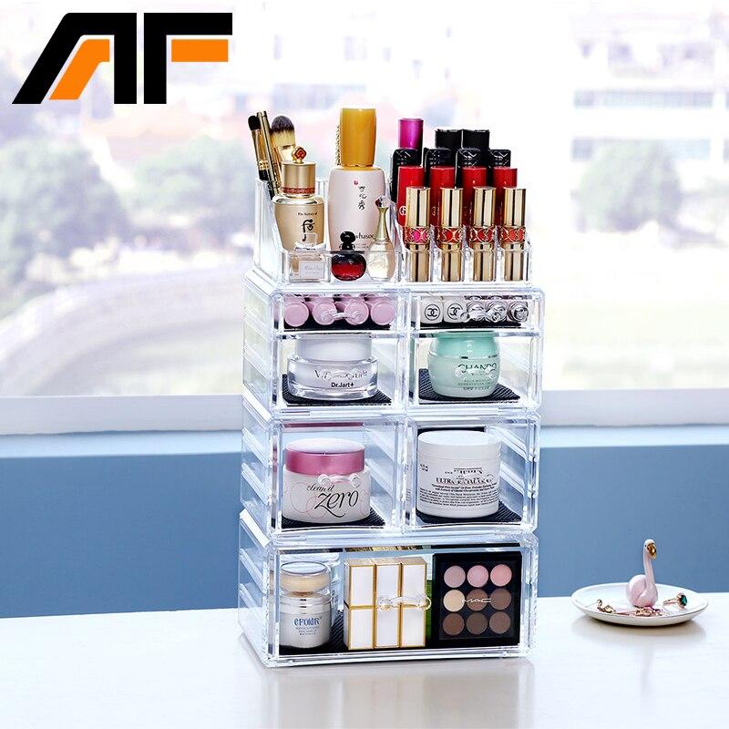 AFAcrylic Cosméticos Maquillaje y joyería Estuche de almacenamiento - Organización y almacenamiento en la casa