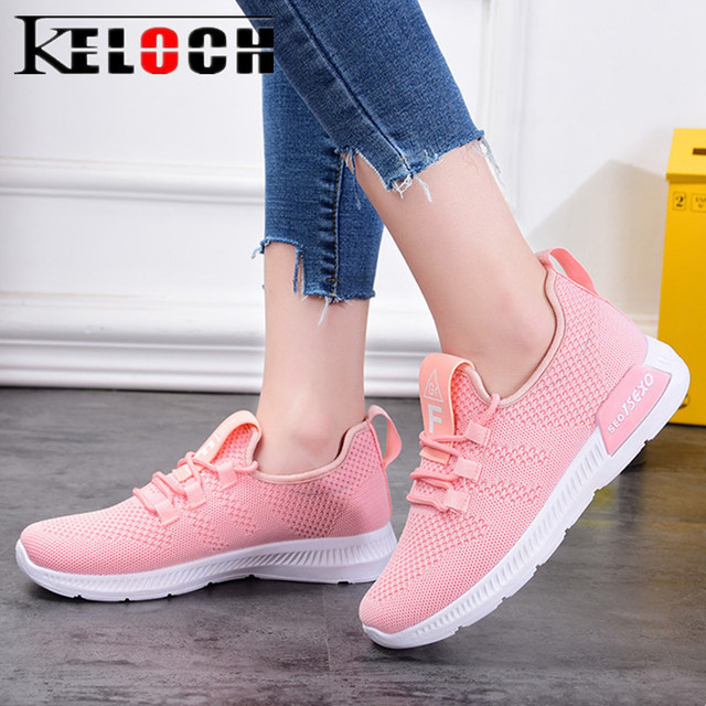 Keloch 2018 señoras ocasionales zapatos mujer Krasovki malla transpirable verano Zapatos mujer Zapatillas mujeres ligero mocasines