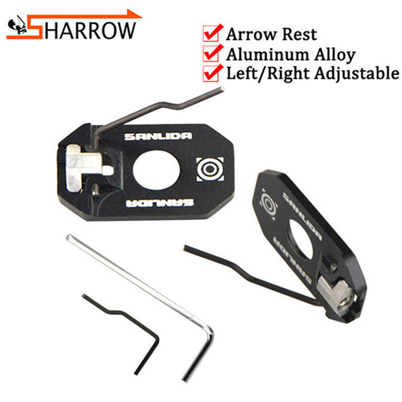 1pc Adjustable Arrow Rest Left Right Hand Magnetic Arrow Rest For Recurve Bow Shooting Trainging Hunting Archery Accessories in Darts from Sports Entertainment