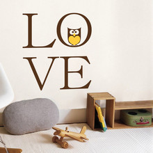 Cartoon Owl Love Heart Words Wall Sticker Kids Boys Girls Poster Mural Beauty Fashion Ornament Decoration Decals LY1305 платье topshop topshop to029ewbqgo0