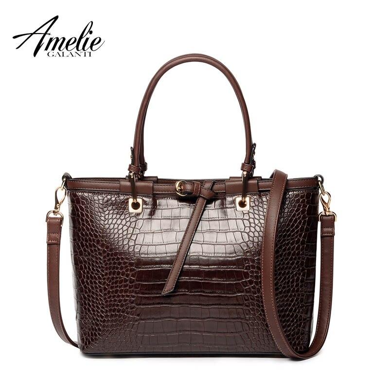 AMELIEGALANTI 2017 fashion women handbag famous designer brand bags pu women totes bag  vintage serpentine shoulder bag trapeze