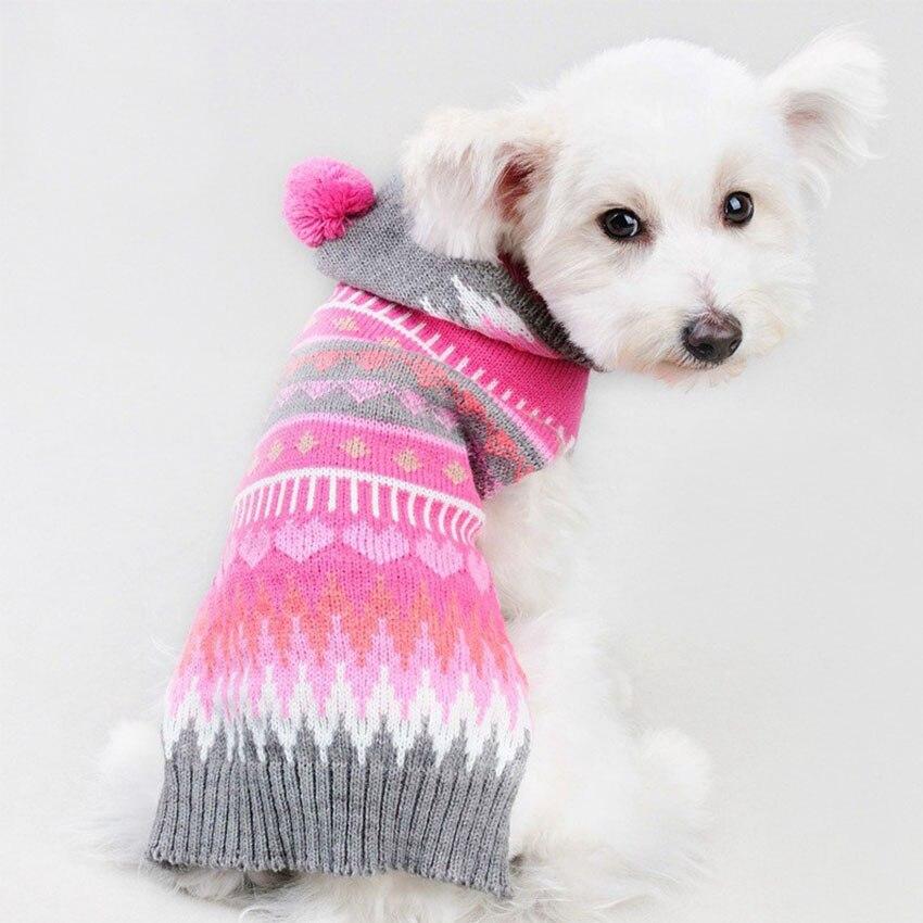 Autumn Winter Pet Dog Clothes Snowflake Pattern Knit Dog Sweater 3 ...