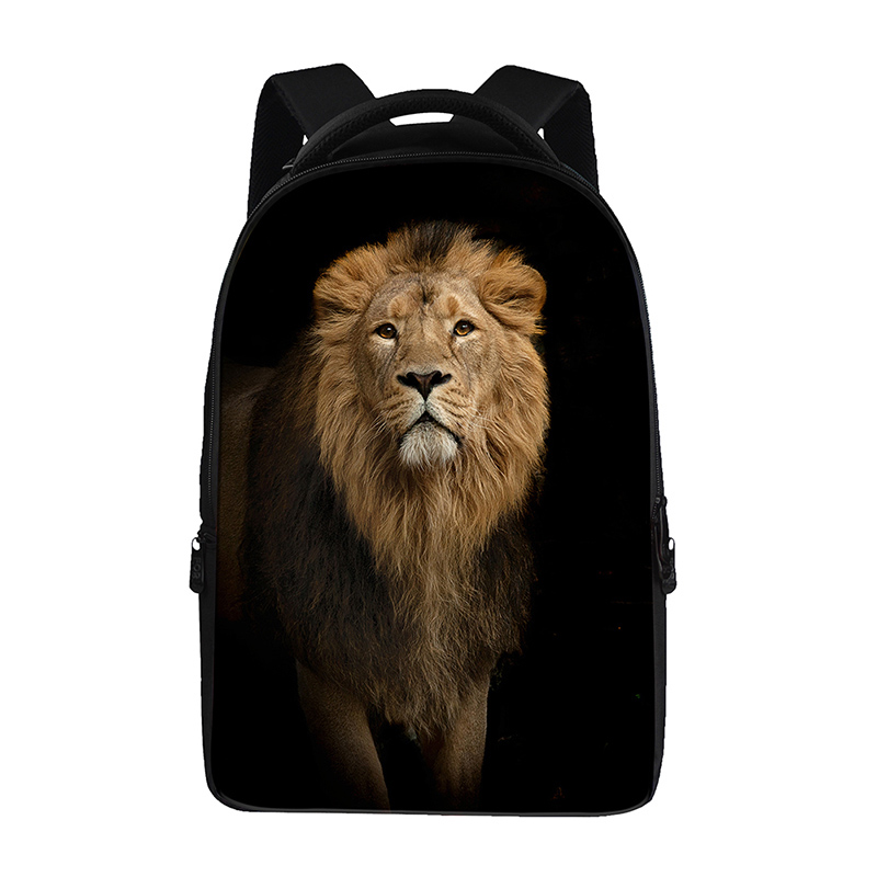 Animal lion printsBackpacks For Teens Computer Bag Fashion School Bags For Primary Schoolbags Fashion Backpack Best Book Bag