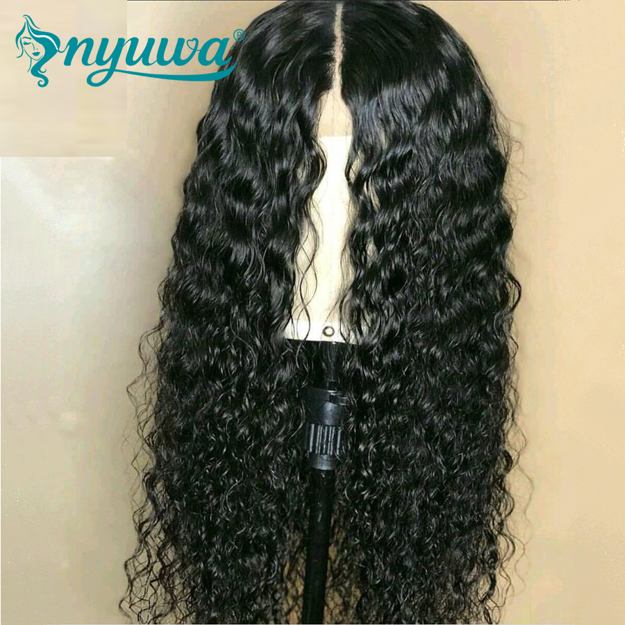 Silk Base Full Lace Human Hair Wigs With Baby Hair Pre Plucked Curly Brazilian Remy Hair Silk Top Full Lace Wigs NYUWA 150%
