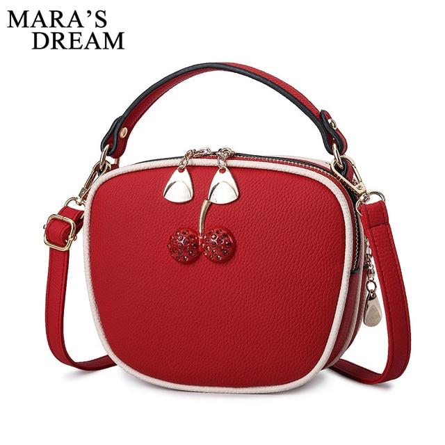 43000d8bd9 Mara s Dream 2018 New PU Leather Women Handbags Fashion Female Bag Lady  Color Handle New Crossbody