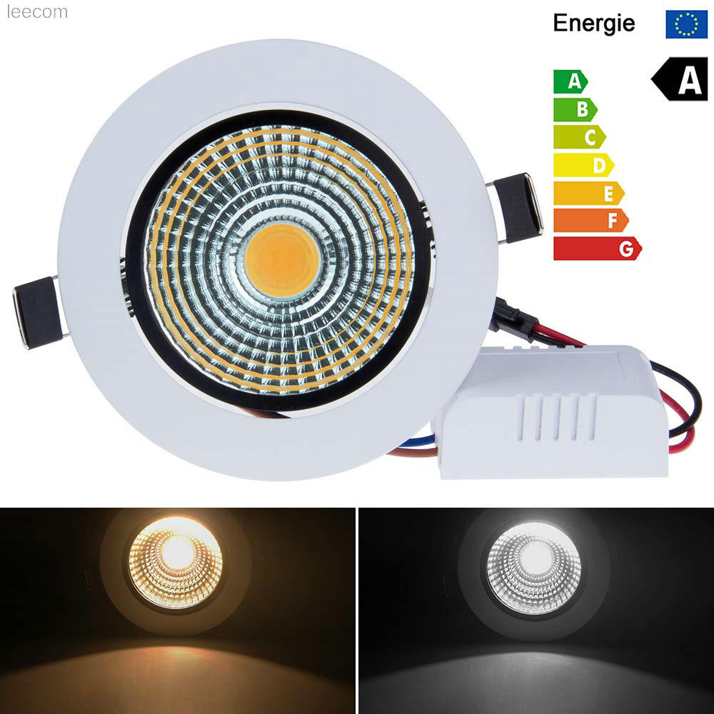 Pack of 10 3W Cob Led Lights Mini Adjustable Recessed Downlights 3000K 6000k in Spotlights from Lights Lighting