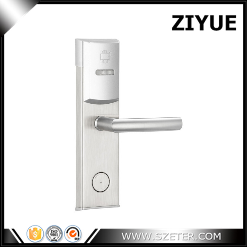 ZIYUE rfid em4305 Keyless Hotel Card Door Lock Access Control with RFID Card Key and Management Software access control lock metal mute electric lock rfid security door lock em lock with rfid key card reader for apartment hot sale