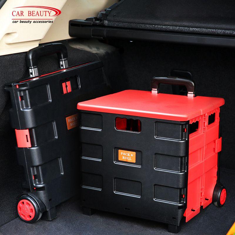 Disney Collapsible Storage Trunk Toy Box Organizer Chest: 3 Size Folding Car Trunk Storage Box Collapsible Auto